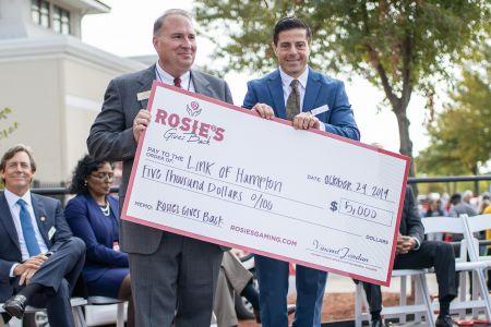 Link of Hampton $5,000 Check Presentation