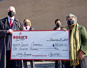 Rosie's Gives Back $10,000 Senior Connections Donation