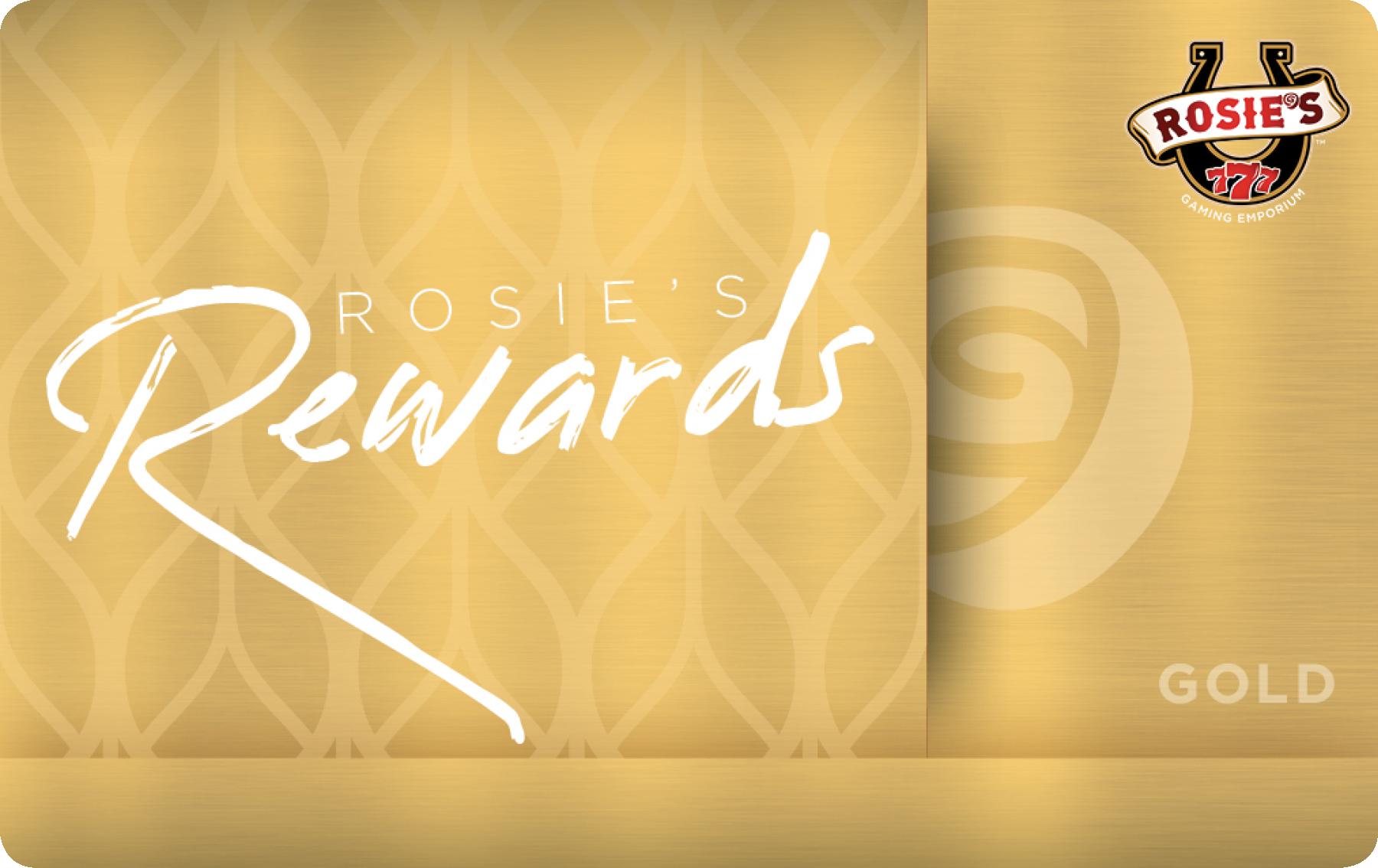Rosies Gold Rewards Card