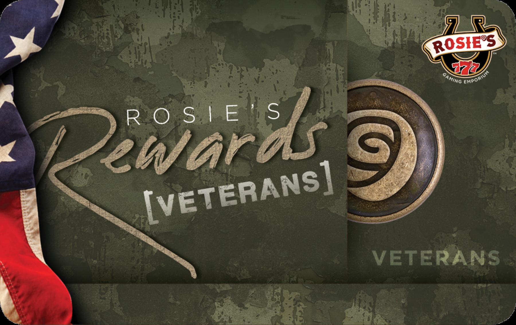 Rosies Veterans Rewards Card