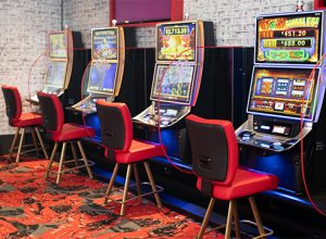 gaming machines with chairs
