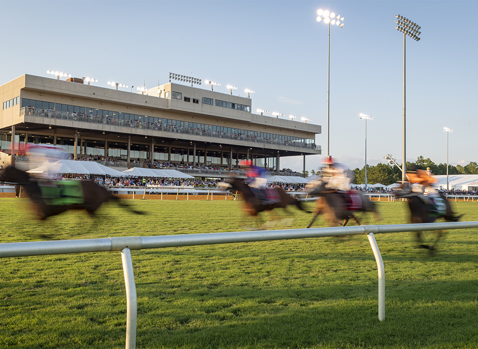 Live Horse Racing at Colonial Downs in New Kent