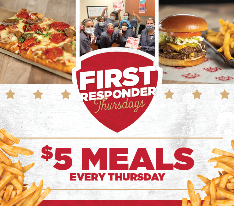 First Responder Thursdays $5 Meals every Thursday