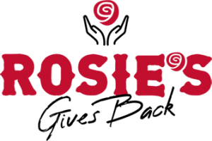 Rosie's Gives Back Logo